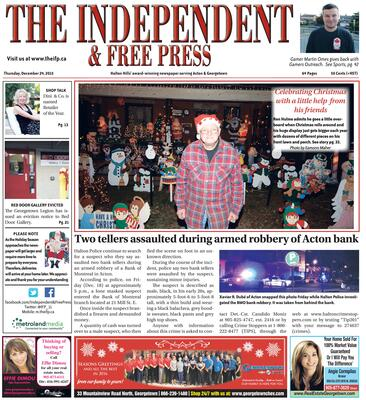 Independent & Free Press (Georgetown, ON), 24 Dec 2015