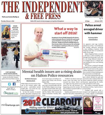 Independent & Free Press (Georgetown, ON), 4 Feb 2016