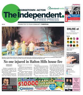 Independent & Free Press (Georgetown, ON), 18 Jan 2018