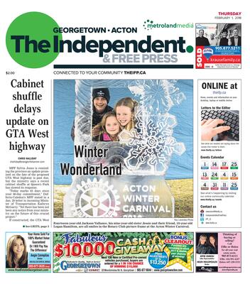 Independent & Free Press (Georgetown, ON), 1 Feb 2018