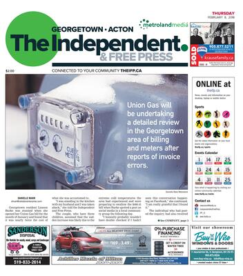 Independent & Free Press (Georgetown, ON), 8 Feb 2018