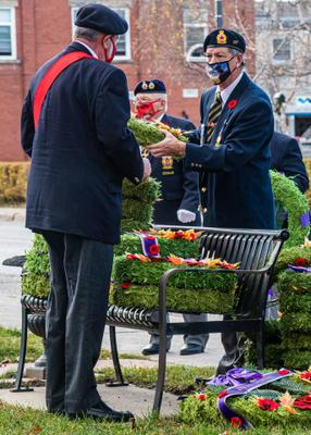 Acton Veterans lay wreathes at the Cenotaph for Remembrance Day