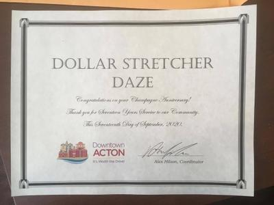 Dollar Stretcher Daze Celebrates Champagne Anniversary