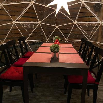 Dining in a Dome at Uncorked on Main