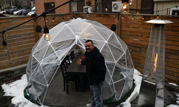 Uncorked on Main sets up outdoor Dining Pods
