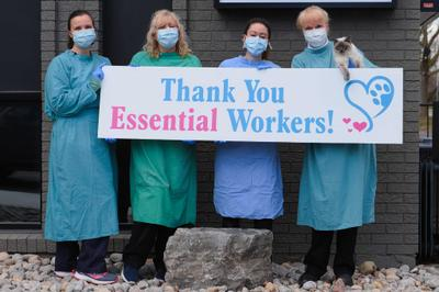 Acton Veterinary Clinic Thanks Essential Workers