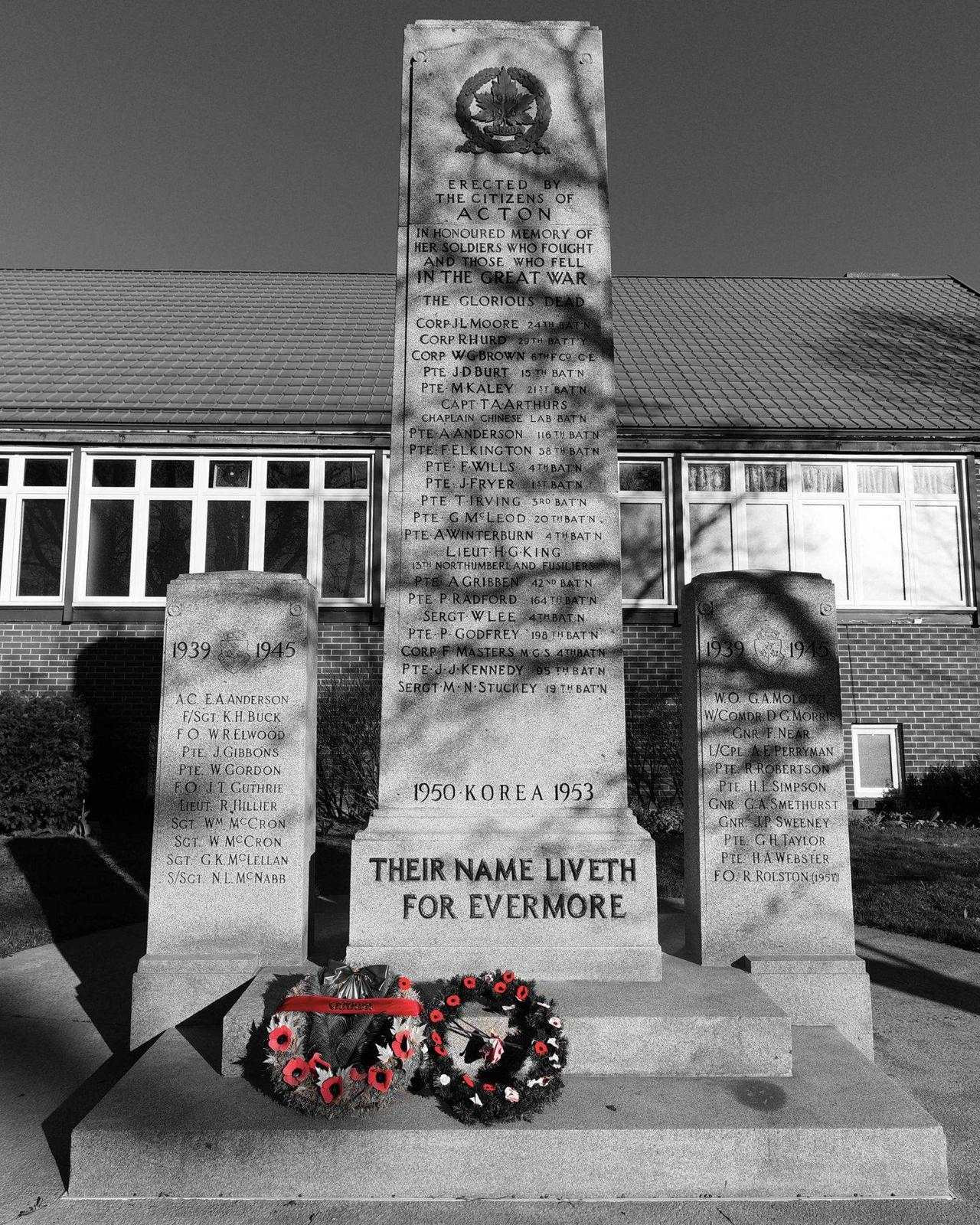 75th Anniversary of VE Day at the Acton Cenotaph
