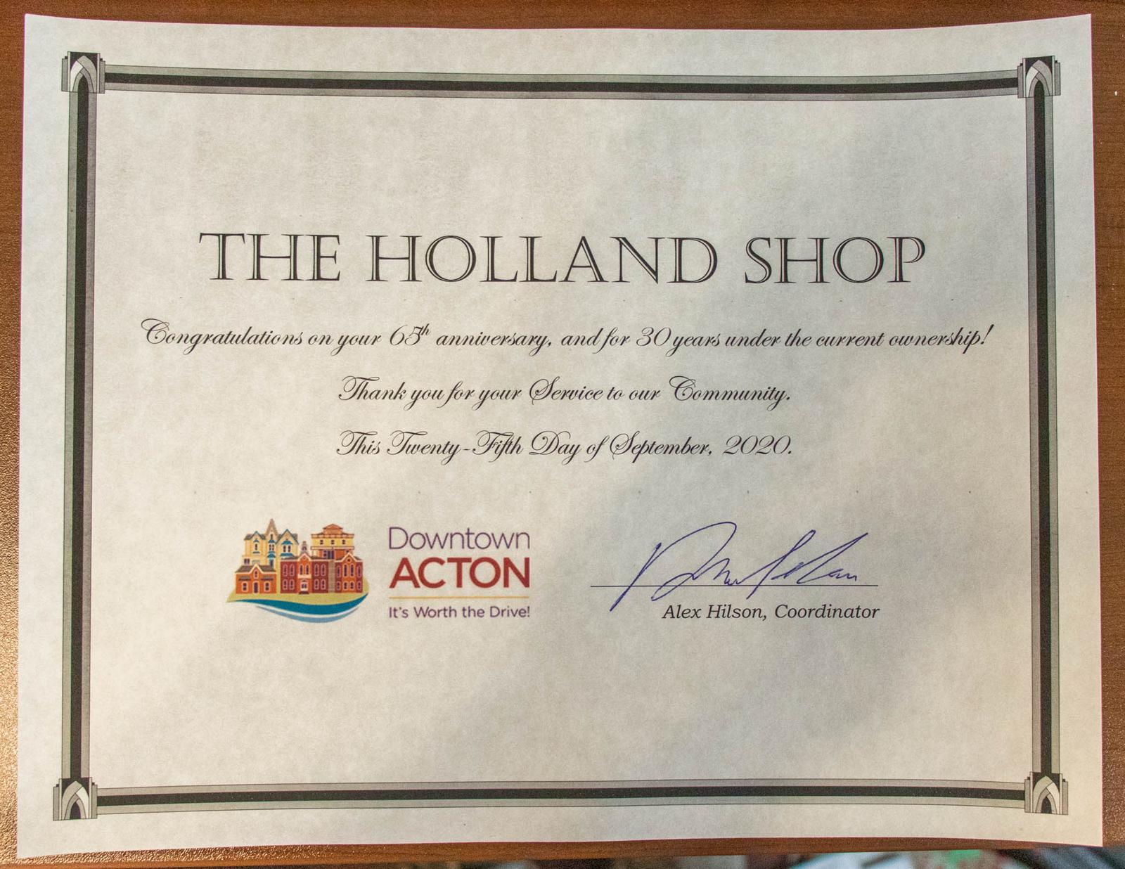 Holland Shop celebrates 65 years