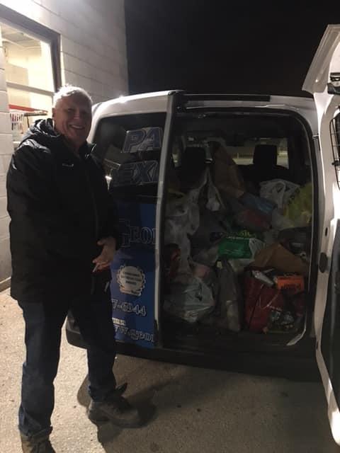 Lions Club Drive Thru Parade Bread Basket Donations