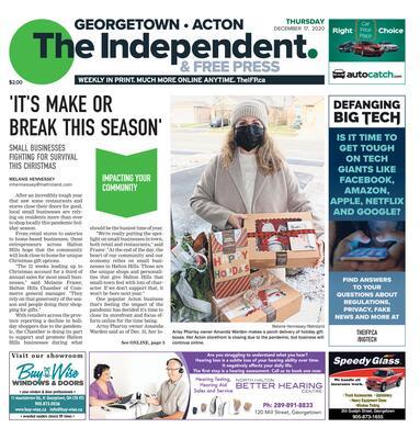 Independent & Free Press (Georgetown, ON), 17 Dec 2020