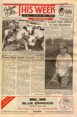 Halton Hills This Week (Georgetown, ON), 11 Jul 1992