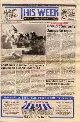 Halton Hills This Week (Georgetown, ON), 8 Aug 1992