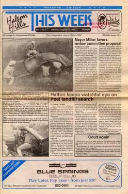 Halton Hills This Week (Georgetown, ON), 15 Aug 1992