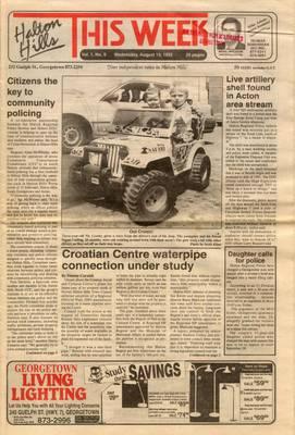 Halton Hills This Week (Georgetown, ON), 19 Aug 1992
