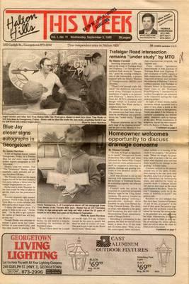 Halton Hills This Week (Georgetown, ON), 2 Sep 1992