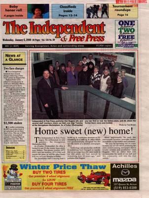 Independent & Free Press (Georgetown, ON), 5 Jan 2000
