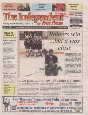 Independent & Free Press (Georgetown, ON), 8 Mar 2000