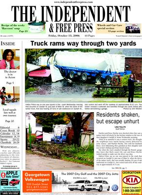 Independent & Free Press (Georgetown, ON), 13 Oct 2006
