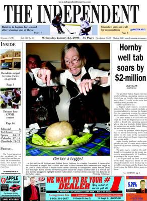 Independent & Free Press (Georgetown, ON), 23 Jan 2008