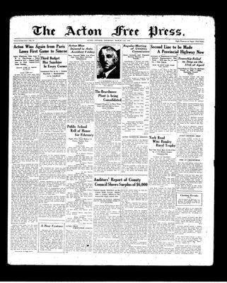 Acton Free Press (Acton, ON), 11 Mar 1937