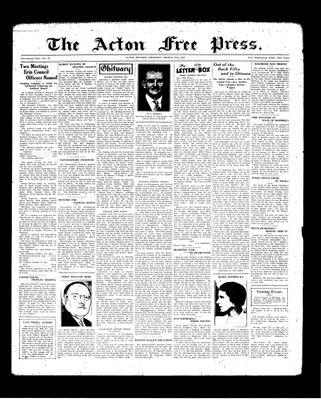 Acton Free Press (Acton, ON), 25 Mar 1937
