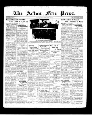 Acton Free Press (Acton, ON), 8 Apr 1937