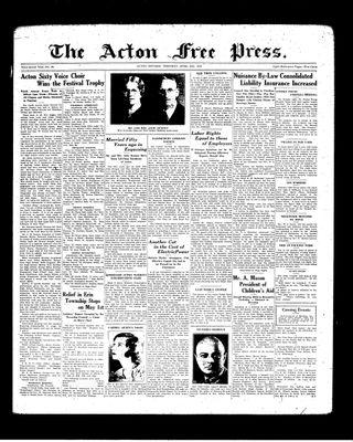 Acton Free Press (Acton, ON), 29 Apr 1937