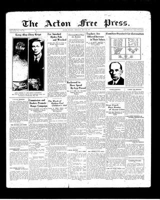 Acton Free Press (Acton, ON), 6 May 1937