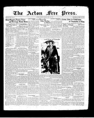 Acton Free Press (Acton, ON), 13 May 1937