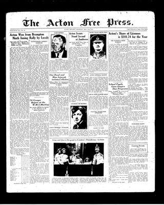 Acton Free Press (Acton, ON), 27 May 1937