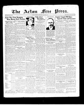 Acton Free Press (Acton, ON), 30 Jun 1937