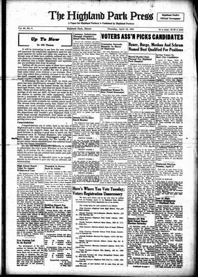 Highland Park Press, 12 Apr 1951