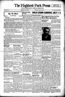 Highland Park Press, 28 Jun 1951