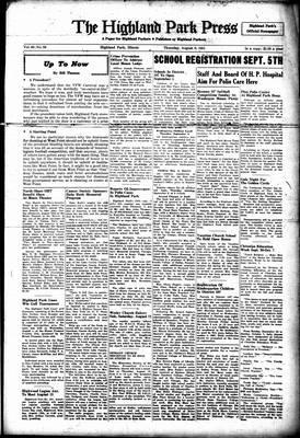 Highland Park Press, 9 Aug 1951