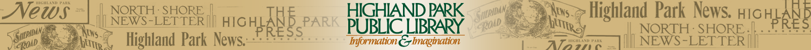 Highland Park Public Library Local Newspapers Site