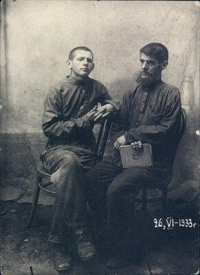 Boris and Nikolai Bokan, seated.