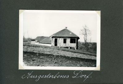 Empty house in a Ukrainian village