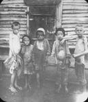 Non-Holodomor: Five young boys in Russia show evidence of swelling and starvation, with one boy pointing out the bloated stomach of the boy next to him