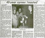 W.C. Eaket's 40 Year Career Toasted, Iron Bridge, 1971