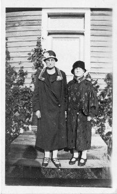 Mrs. T.W. Baker and Mrs. Peter Jeffery, circa 1925