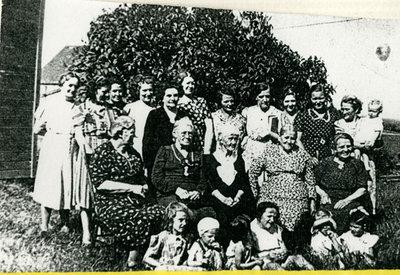 Iron Bridge United Church Ladies Meeting Circa 1939-1940