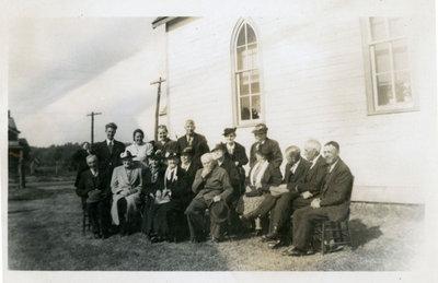 Iron Bridge United Church Reunion -  Circa 1942