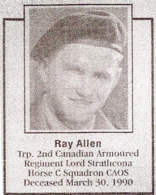 Photo (Obituary) For Ray Allen - March 30, 1990