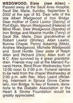 Obituary For Elsie Wedgwood - Sept 2002