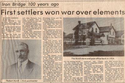 First Setttlers Won War Over Elements - Circa 1979