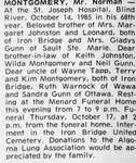 Obituary for Norman Montgomery, Iron Bridge, 1985