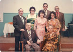 Group Photo Of Mr. and Mrs. Max Tulloch And Family, Circa 1960