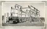 Eric Reid Farm, Barn Raising, Framing, 1933
