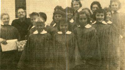 United Church Junior Choir, Iron Bridge, 1960