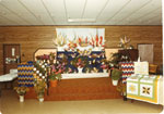 Fall Fair, Quilt and Floral Display, Iron Bridge, 1979